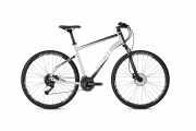 """Гибридный Велосипед Ghost Square Cross 1.8 28"""", рама L, серебристо-черно-белый, 2020 доставка из г.Kiev"""