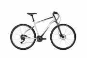 """Гибридный Велосипед Ghost Square Cross 1.8 28"""", рама M, серебристо-черно-белый, 2020 доставка из г.Kiev"""
