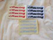 Наклейки на ручки Racing Черная, Красная, Белая светоотражающая 4 шт доставка из г.Boryspil'
