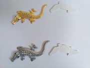 Наклейка металлическая Крокодил Украшение кузова, салона авто доставка из г.Boryspil'