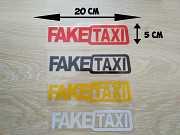 Наклейка на авто FakeTaxi Красная, Черная, Белая, Желтая светоотражающая доставка из г.Boryspil'