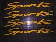 Наклейка на ручки, диски , дворники авто 13.4 см Спорт светоотражающая доставка из г.Boryspil'