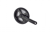 Шатун Prowheel AL 24/34/42Tx170мм, чорний,TA-CN68 (порошк фарб.) доставка из г.Kiev