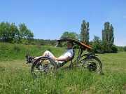 Триколісний лежачий електротрайк Ямполь