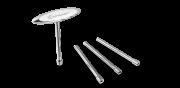 Ключ для спиц Birzman c Т-образной ручкой, серебристый доставка из г.Kiev