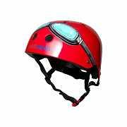 Шлем детский Kiddimoto очки пилота, красный, размер M 53-58см доставка из г.Kiev