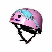 Шлем детский Kiddimoto очки пилота, розовый, размер M 53-58см доставка из г.Kiev