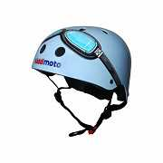 Шлем детский Kiddimoto очки пилота, синий, размер M 53-58см доставка из г.Kiev