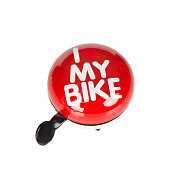 Динг-Донг Green Cycle GBL-458 I love my bike диаметр 80мм красный доставка из г.Kiev