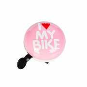 Динг-Донг Green Cycle GBL-458 I love my bike диаметр 80мм розовый доставка из г.Kiev