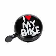 Динг-Донг Green Cycle GBL-458 I love my bike диаметр 80мм черный доставка из г.Kiev