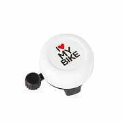 Звонок Green Cycle GBL-251 I love my bike cтальной белый доставка из г.Kiev